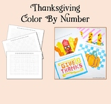Thanksgiving Color By Number ~ Grid Coloring