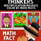 Thanksgiving Color By Number-Multiplication Mosaic Bundle Pack