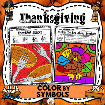 Thanksgiving Color By Symbol (Music)