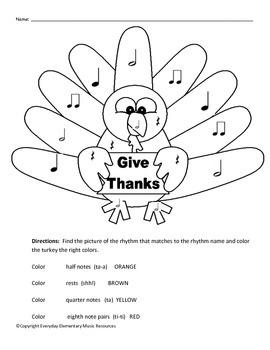 Thanksgiving Color By Rhythm