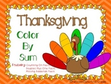Thanksgiving Color By Sum