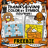 Thanksgiving Color By Symbol (Solfege) FREEBIE