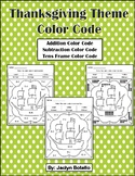 Thanksgiving Color Code Printable