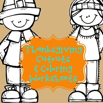 Thanksgiving Color & Cutout Worksheets