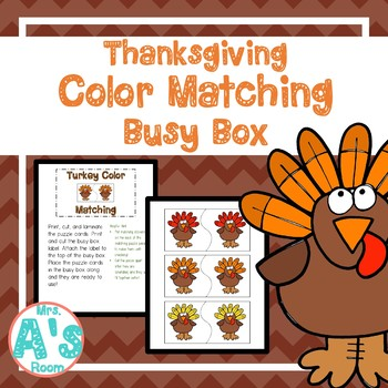 Thanksgiving Color Matching Busy Box