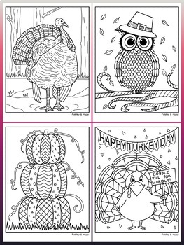 Thanksgiving Activity- Coloring Pages