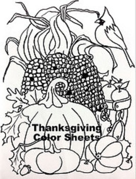 Thanksgiving Color Sheet 2 Pack