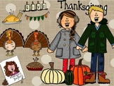 Thanksgiving Color and Black and White Bundles by Marilou'