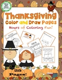 Thanksgiving Color and Draw Pages -  Coloring and Drawing Activity