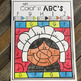 Thanksgiving Color by Code ABC's (Uppercase and Lowercase)