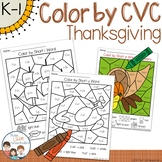 Thanksgiving Color by CVC Word