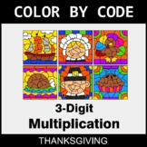 Thanksgiving Color by Code - 3-Digit Multiplication