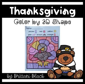 Thanksgiving- Color by Code