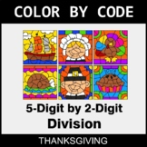 Thanksgiving Color by Code - 5-Digit by 2-Digit Division