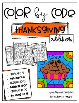 Thanksgiving Color by Code: Addition