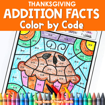 Thanksgiving | Color-by-Code Addition | Color by Number