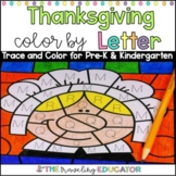 Thanksgiving Color by Code Alphabet Trace Worksheets