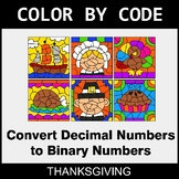 Thanksgiving Color by Code - Binary Numbers