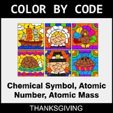 Thanksgiving Color by Code - Chemical Symbol, Atomic Numbe