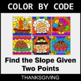 Thanksgiving Color by Code - Find the Slope Given Two Points