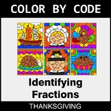 Thanksgiving Color by Code - Identifying Fractions