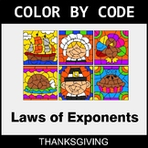 Thanksgiving Color by Code - Laws of Exponents