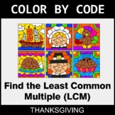 Thanksgiving Color by Code - Least Common Multiple (LCM)