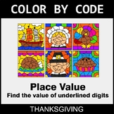 Thanksgiving Color by Code - Place Value of Underlined Digit