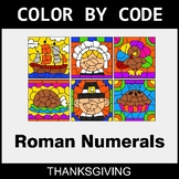 Thanksgiving Color by Code - Roman Numerals