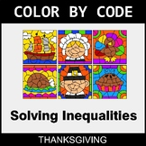 Thanksgiving Color by Code - Solving Inequalities with Add