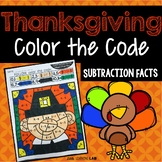 Thanksgiving Color by Code Subtraction
