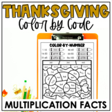 Thanksgiving Color-by-Code| Multiplication Facts | Thanksg