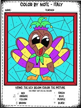 Thanksgiving Color by Note Bundle Set