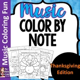 Thanksgiving Color by Note set of 8 Color Sheets