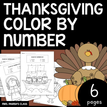 Thanksgiving Color by Number!!