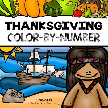 Thanksgiving Math Activities (Thanksgiving Color by Number)