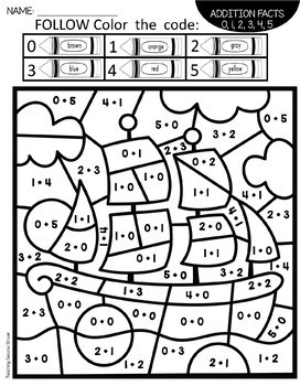 Thanksgiving Color by Number Pages