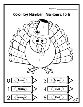 Thanksgiving Color by Number/Color By Sum
