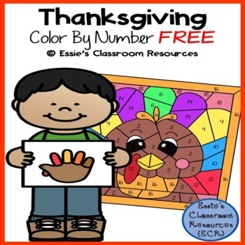 Thanksgiving Color by Number - FREEBIE