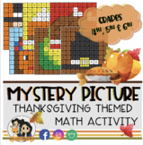 Thanksgiving Color by Number: Math Activities (4th, 5th & 6th Grade)