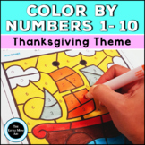 Thanksgiving Color by Number (Numbers 1-10)