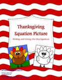 Thanksgiving Color by Number Picture - Writing and Solving