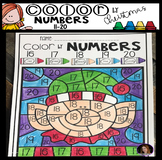 Christmas Color by Code Numbers 11-20 Activities