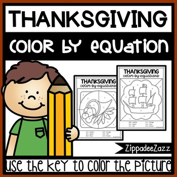 Thanksgiving Color by Numbers Color by Sum