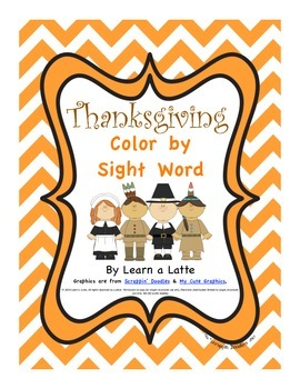 Thanksgiving Color by Sight Word & Sentences