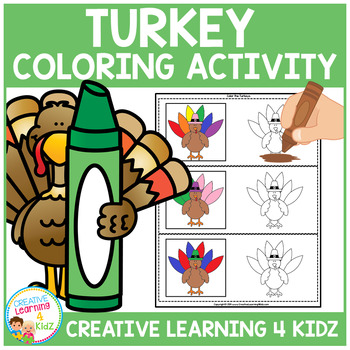 Thanksgiving Color the Turkey Activity Cards