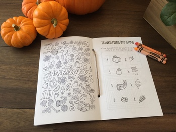 Thanksgiving Coloring & Activity Book - 16 pages!