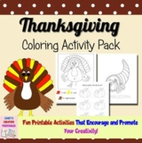 Thanksgiving Coloring Activity Pack