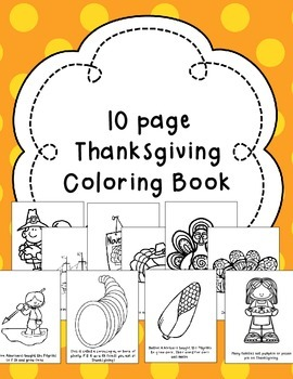 Thanksgiving Coloring Book & Coloring Pages