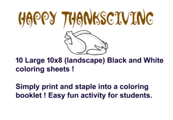 Thanksgiving Coloring Booklet !